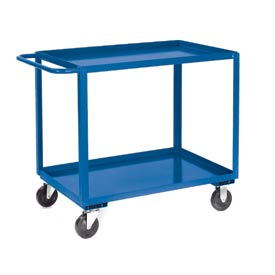 Jamco Blue All Welded 2 Shelf Stock Cart SB248 48x24 1200 Lb. Cap.