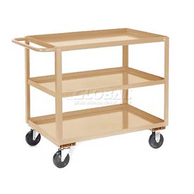 Jamco Putty All Welded 3 Shelf Stock Cart SC130 30x18 1200 Lb. Cap.