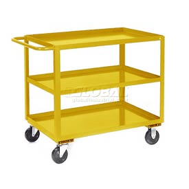 Jamco Yellow All Welded 3 Shelf Stock Cart SC248 48x24 1200 Lb. Cap.