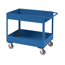 "Jamco Blue All Welded 6"" Deep Shelf Cart LS236 1200 Lb. Cap. 36x24"