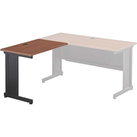 "Interion® 36""W Left Handed Return Table, Cherry"