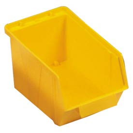 "Quantum Plastic Stack And Lock Bin QCS30 with ID Tab 5-7/8""W x 10-14""D x 5-1/8"" Yellow - Pkg Qty 12"