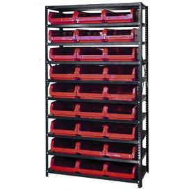 Quantum MSU-531 Steel Shelving With 27 Magnum Giant Hopper Bins Red, 18x42x75