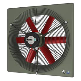 "Multifan Panel Fan 12"" Diameter Three Phase 240/460v With Grill"