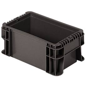 """Buckhorn Straight Wall Container SW120705F101000 Solid 12""""L x 7-1/2""""W x 5""""H, Gray"""