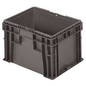 "Buckhorn Straight Wall Container SW151209F101000 Solid 15""L x 12""W x 9-1/2""H, Gray"