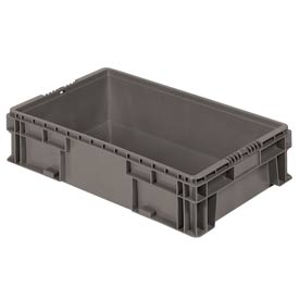 "Buckhorn Straight Wall Container SW2415060206000 Solid 24""L x 15""W x 5-1/2""H, Gray"