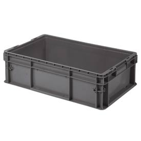 """Buckhorn Straight Wall Container SW241507F101000 Solid 24""""L x 15""""W x 7-1/2""""H, Gray"""