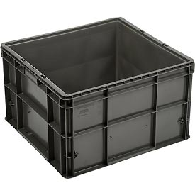 "Buckhorn Straight Wall Container SW242214F101000 Solid 24""L x 22""W x 14-1/2""H, Gray"