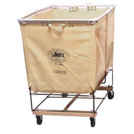 Dandux White Canvas Elevated Basket Bulk Truck 400130C02 2 Bushel Capacity