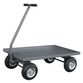 """Jamco Solid Steel Deck Wagon Truck UV236 36 x 24 with 1-1/2"""" Lip Deck"""