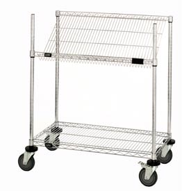 "Quantum M2448SL34C Chrome Wire Work Station Cart, 48""L x 24""W x 40""H"