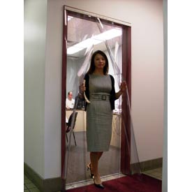 TMI Curtronizer™ NSF Approved Standard Clear Strip Curtain Door 40 x 80 - CZN6-6-S-4080