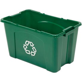 Rubbermaid Recycling Box - 18 Gallon Green
