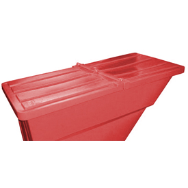 Red Hinged Lid for Bayhead Products 5/8 Cu Yd Self-Dumping Plastic Hopper