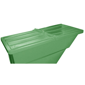 Green Hinged Lid for Bayhead Products 1.1 Cu Yd Self-Dumping Plastic Hopper