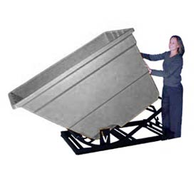 Bayhead Products Gray Plastic Self-Dumping Forklift Hopper 1.7 Cu Yd