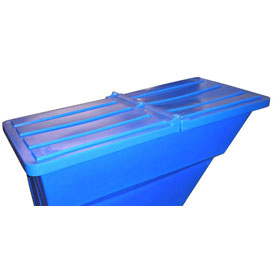 Blue Hinged Lid for Bayhead Products 1.7 Cu Yd Self-Dumping Plastic Hopper