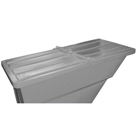 Gray Hinged Lid for Bayhead Products 1.7 Cu Yd Self-Dumping Plastic Hopper