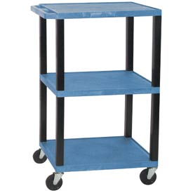 H. Wilson WT42BU-B Blue Tuffy Garage & Shop Utility Cart 250 Lb. Cap.