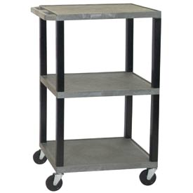 H. Wilson WT42GY-B Gray Tuffy Garage & Shop Utility Cart 250 Lb. Cap.