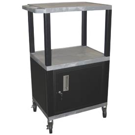 Luxor WT42C2 Gray Tuffy Garage & Shop Utility Cart with Cabinet 250 Lb. Cap.