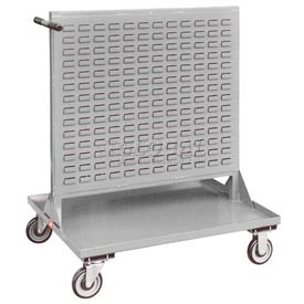 "Jamco Steel Mobile Double Sided Bin Rack RF336-N8 - All-Welded 36"" x 50"", 8"" Casters"