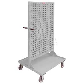 "Jamco Steel Mobile Double Sided Bin Rack RE336N800GP - All-Welded 36"" x 68"", 8"" Casters"