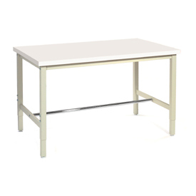 """48""""W x 30""""D Production Workbench - ESD Laminate Safety Edge - Tan"""