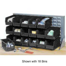 "Quantum QBR-2721-230-12CO Bench Rack With 12-10-7/8""D Conductive Stacking Bins, 27x8x21"
