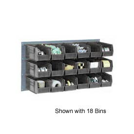 """Quantum QLP-3619-210-32CO Louvered Panel with 32 5-3/8""""D Conductive Stacking Bins, 36x19"""