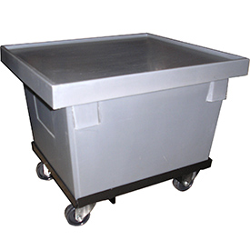 Bayhead CRT-23-C Plastic Container With Lid and Dolly 23-1/2x20-1/2x18-1/2