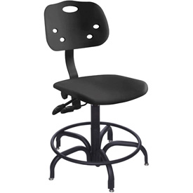 "Bio Fit 24 Hour Antimicrobial Stool - 22-27"" Seat Ht. Black"