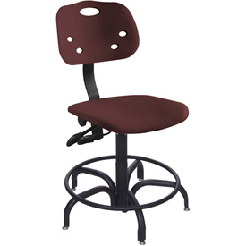 """BioFit ArmorSeat 24 Hour Antimicrobial Chair - 17 - 21"""" Seat Ht. - Burgundy"""
