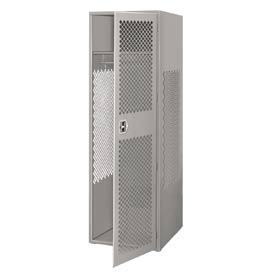Pucel All Welded Gear Locker With Door 24x18x72 Gray