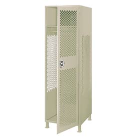 Pucel All Welded Gear Locker With Door And Legs 24x18x72 Putty