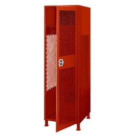 Pucel All Welded Gear Locker With Door And Legs 24x18x72 Red
