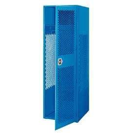 Pucel All Welded Gear Locker With Door 24x24x72 Blue