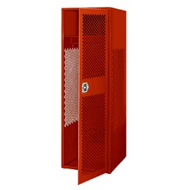 Pucel All Welded Gear Locker With Door 24x24x72 Red