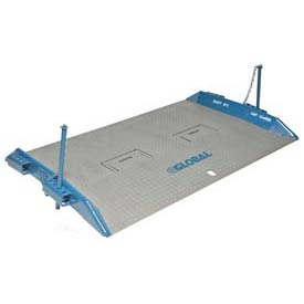 Bluff® 15T6048 HD Steel Dock Board with Lock Pins 60 x 48 15,000 Lb. Cap.