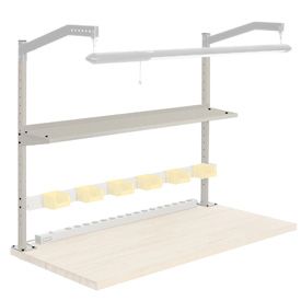 "60""W Upright Kit with 12""D Shelf. 48""H - Tan"