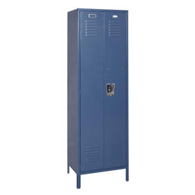 Penco 6MTJ172806 Vanguard Executive Locker 24x18x72 W/ Legs Ready To Assemble Marine Blue