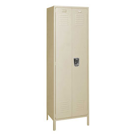 Penco 6MTJ174073 Vanguard Executive Locker 24x24x72 with Legs Ready To Assemble Champagne
