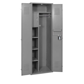 Penco 6MTJ175028 Vanguard Executive Locker 24x24x72 No Legs Ready To Assemble Gray
