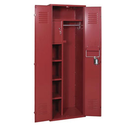 Penco 6MTJ175736 Vanguard Executive Locker 24x24x72 No Legs Ready To Assemble Burgundy