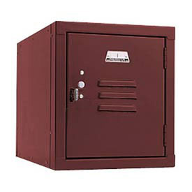 Penco 6157V736 Vanguard One High Box Locker 12x12x13-5/8 Unassembled Burgundy