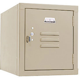 Penco 6179V073 Vanguard One High Box Locker 12x18x13-5/8 Unassembled Champagne