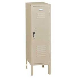 Penco 6129V073 Vanguard Half Height Locker 1 Wide 12x18x36-1/2 Unassembled Champagne