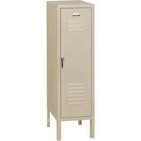 Penco 6184V073 Vanguard Half Height Locker 1 Wide 12x15x48-1/2 Unassembled Champagne