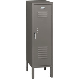 Penco 6187V028 Vanguard Half Height Locker 1 Wide 12x18x48-1/2 Unassembled Gray